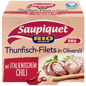 Saupiquet Thunfisch-Filets in Olivenöl mit Chili 130 g