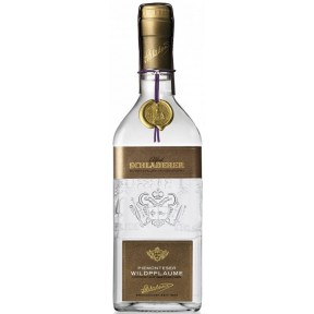 Schladerer Piemonteser Wildpflaume + 100ml Flachmann (leer)
