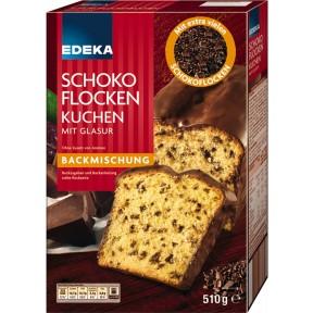 EDEKA Backmischung Schokoflockenkuchen mit Glasur