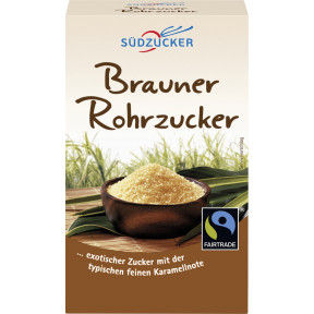 Südzucker Fairtrade Rohr-Rohzucker 500 g