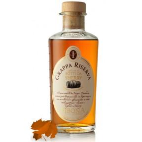 Sibona Grappa Riserva Sherry in einer Geschenkdose