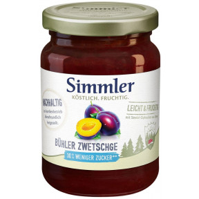 Simmler Konfitüre Leicht + Fruchtig Bühler Zwetschge 215G