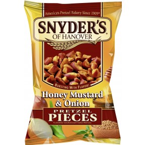 Snyders of Hanover Pretzel Pieces Honey Mustard & Onion 125 g