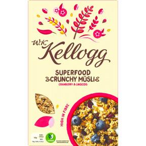 Kelloggs Superfood Crunchy Müsli Cranberry & Linseeds 400g