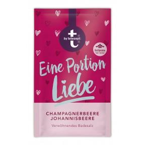 Tetesept Badesalz Eine Portion Liebe Champagnerbeere Johannisbeere 60 g