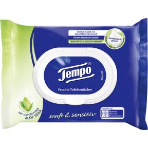 Tempo Sanft & Sensitive feuchte Toilettentücher Aloe Vera 42 Stück