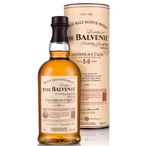 Balvenie 14 Jahre Caribbean Cask Ron Cask Finished  Single Malt