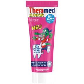 Theramed Zahncreme mit Fluorid & Calcium und Erdbeer- geschmack