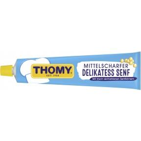 Thomy Delikatess Senf mittelscharf in der Tube groß