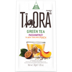 Ti Ora Green Tea Passionsfruit & New Zealand Peach 15ST 30G