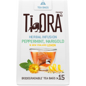 Ti Ora Herbal Infusion Peppermint, Marigold & New Zealand Lemon 15ST 27G