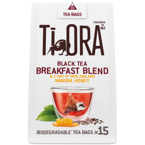 Ti Ora Black Tea Breakfast Blend & A Hint Of New Zealand Manuka Honey 15ST 37G