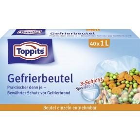 Toppits Gefrierbeutel 1L 40 Stück