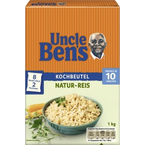 Uncle Ben´s Natur Reis im Kochbeutel 10 Minuten 8x 125 g