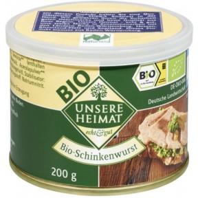 Unsere Heimat Bio-Schinkenwurst 200 g