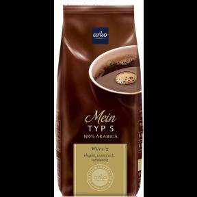 Arko Kaffee Typ 5 ganze Bohne 500g