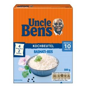Uncle Ben´s Basmati-Reis 10 Minuten im Beutel 4x 125 g