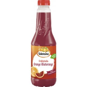 Valensina Frühstücks-Orange-Blutorange Saft 1 ltr PET