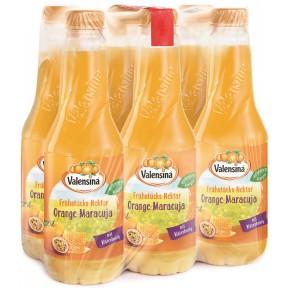 Valensina Frühstücks-Nektar Orange-Maracuja 6x 1 ltr PET
