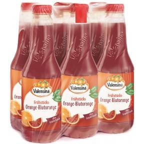 Valensina Frühstücks-Orange-Blutorange Saft 6x 1 ltr PET