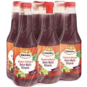 Valensina Vitamin-Frühstück Roter Multivitamin Saft 6x 1 ltr PET