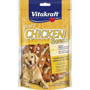 Vitakraft Pure Chicken Bonas Kaustangen mit Hühnchen & Käse 80G