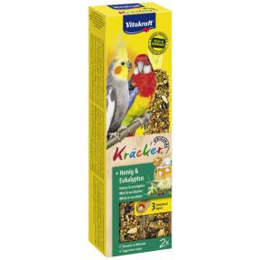 Vitakraft Kräcker Honig & Eukalyptus für Großsittiche 2x 90G