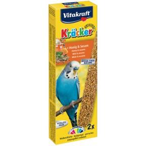 Vitakraft Kräcker Honig & Sesam für Wellensittiche 2x 30 g