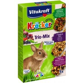 Vitakraft Kräcker Trio Mix für Zwergkaninchen 3x 56 g