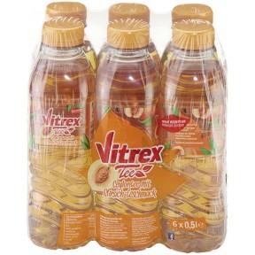 Vitrex Tee Ceylontee mit Pfirsichgeschmack 6x 0,5 ltr PET