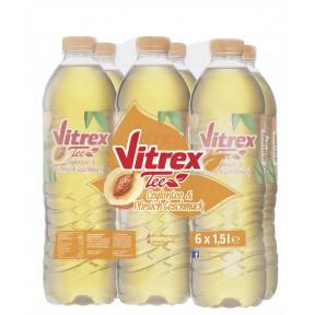 Vitrex Tee Ceylontee mit Pfirsich-Geschmack 6x 1,5 ltr PET