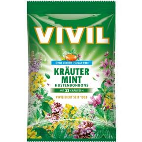 Vivil Kräuter Mint Husten Bonbons zuckerfrei 80 g
