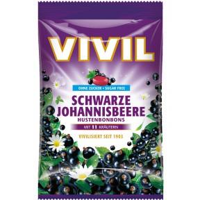 Vivil Schwarze Johannisbeere Hustenbonbons zuckerfrei