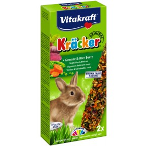 Vitakraft Zwergkaninchen Kräcker Gemüse & Rote Beete 112 g