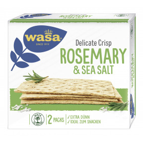 Wasa Delicate Crisp Rosemary & Sea Salt 190 g