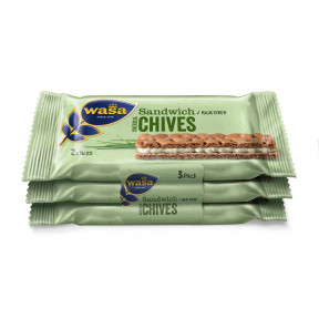 Wasa Sandwich Cheese & Chives 3x 37 g