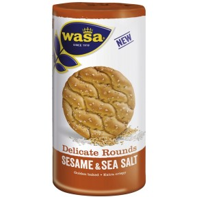 Wasa Delicate Rounds Sesame & Sea Salt
