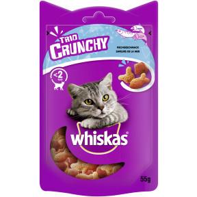 Whiskas Trio Crunchy Treats mit Lachs und Weißfisch 55G