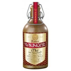 Wikinger Met Honigwein im Tonkrug rot mit Kirschsaft