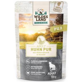 Wildes Land Adult Huhn Pur mit Distelöl Katzenfutter nass 100G