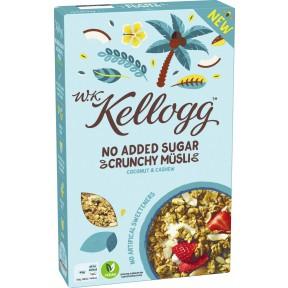Kelloggs No Added Sugar Crunchy Müsli Coconut & Cashew 400 g