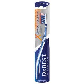Dr.BEST Zahnbürste X-Zwischenzahn mittel verschiedene Farben