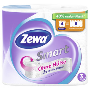 Zewa Smart Toilettenpapier 3-lagig weiß 4x300BL