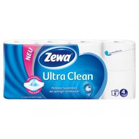 Zewa Ultra Clean Toilettenpapier 4-lagig 8x 135 Blatt