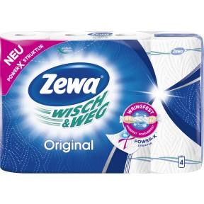 Zewa Wisch & Weg Küchentücher Original 4x 45 Blatt