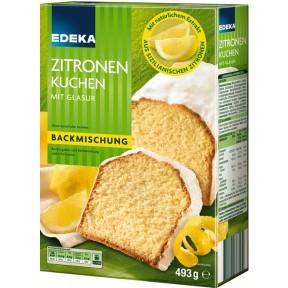 EDEKA Backmischung Zitronenkuchen mit Glasur