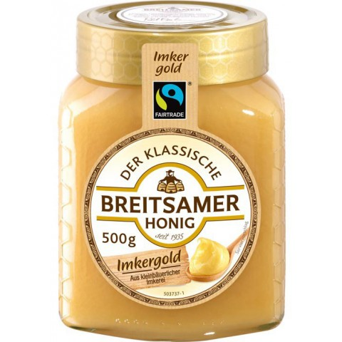 Breitsamer Fairtrade Imkergold Honig cremig 500 g