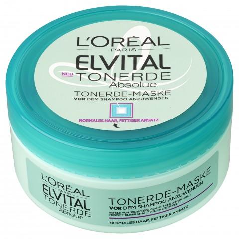 Elvital Tonerde-Maske Vor dem Shampoo