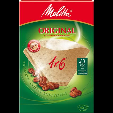 Melitta Kaffeefilter 1x6 braun 40 Stück
