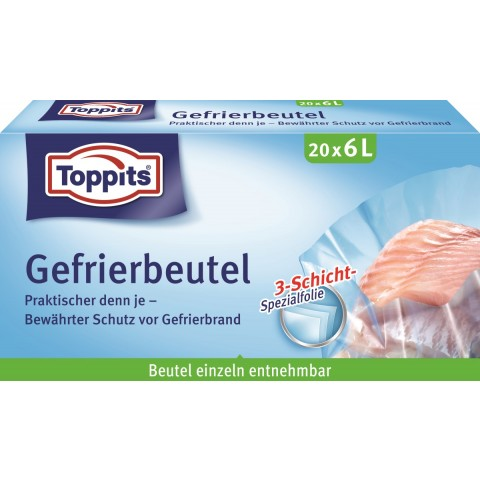 Toppits Gefrierbeutel 6L
